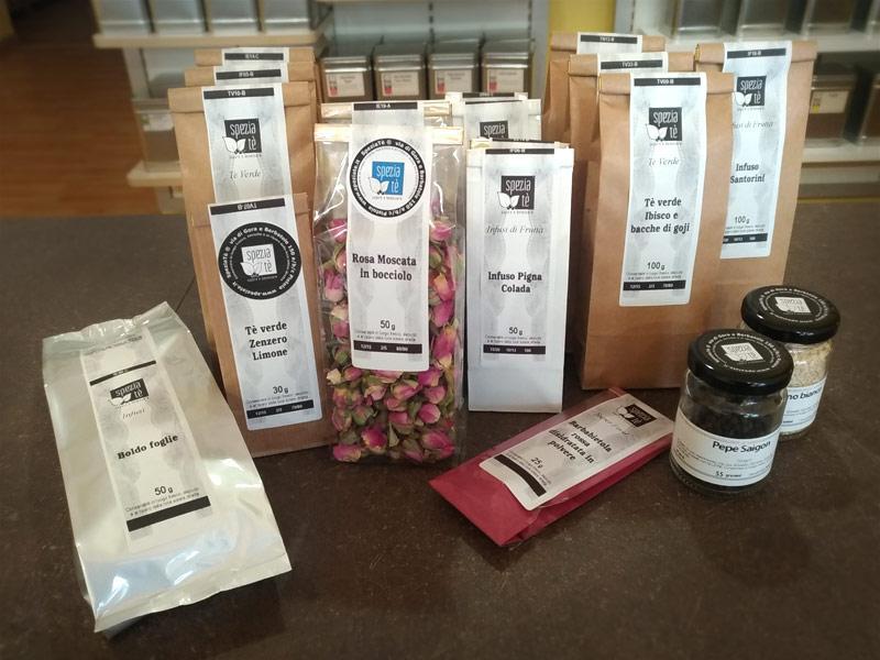 Confezioni di Spezie, Tè e Tisane