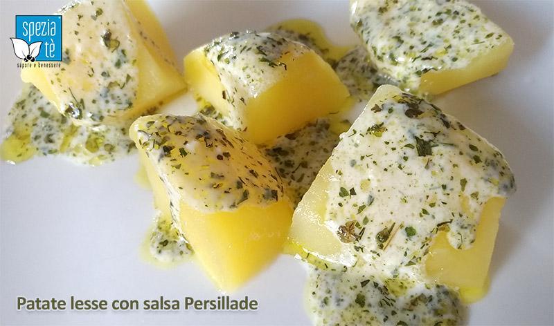 Patate lesse con salsa Persillade