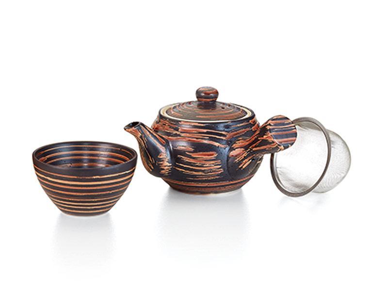 Teiera ceramica con manico Cha no yu