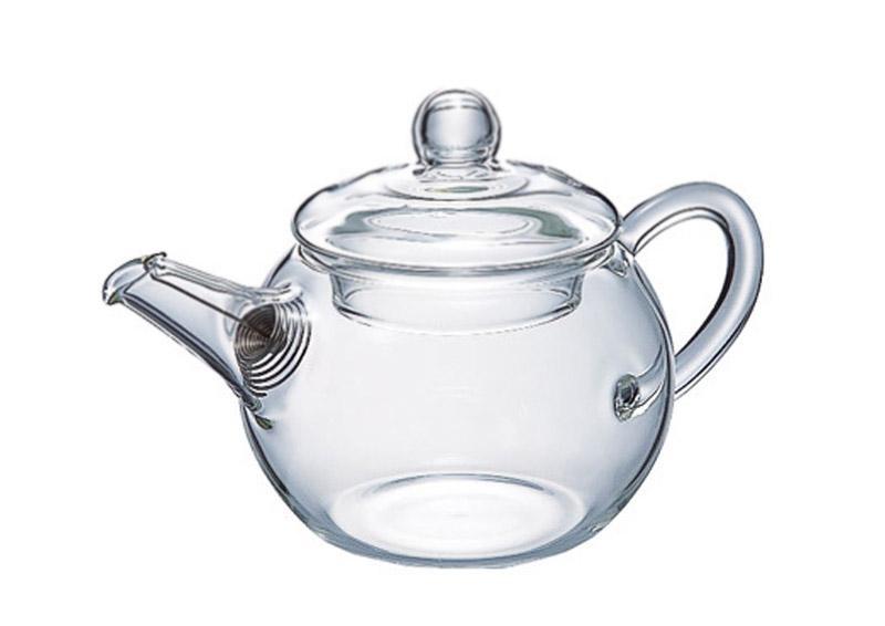 Teiera in vetro con filtro