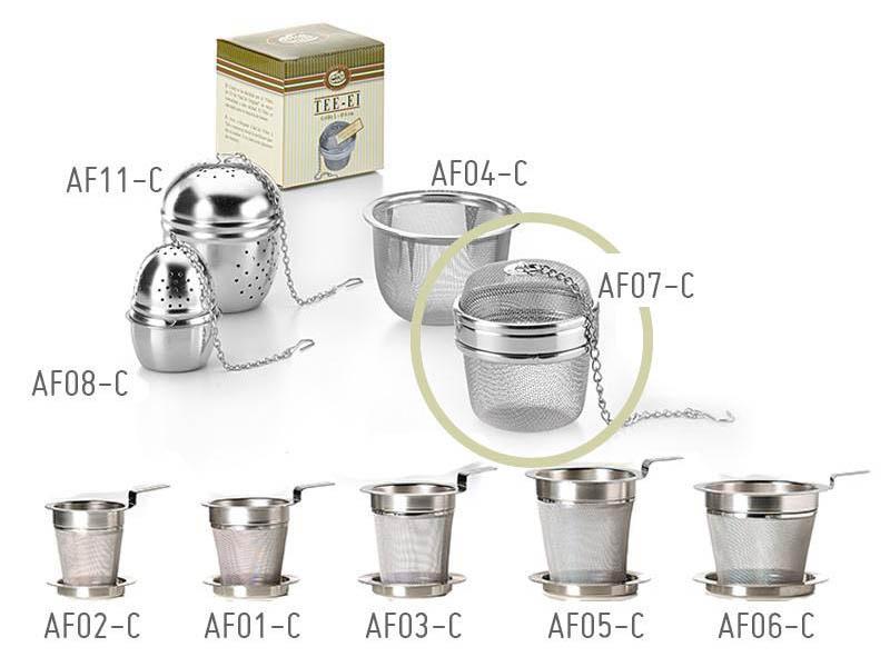Filtro per tè e tisane palla inox diametro 6 cm