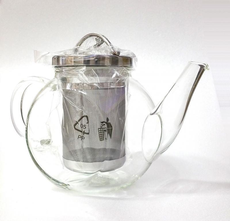 Teiera vetro con filtro acciaio Keilig 1lt