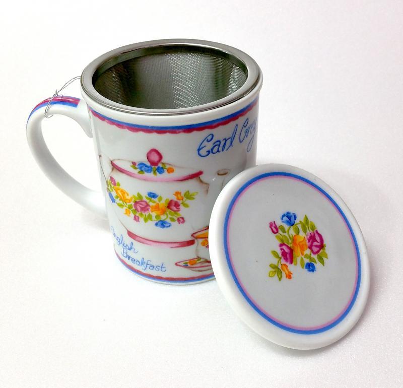 Mug con filtro acciaio e tappo portafiltro Mémoire