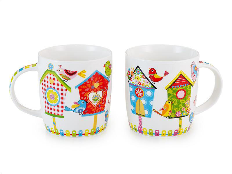 Tazza Mug porcellana modello Birds Home 0.25lt