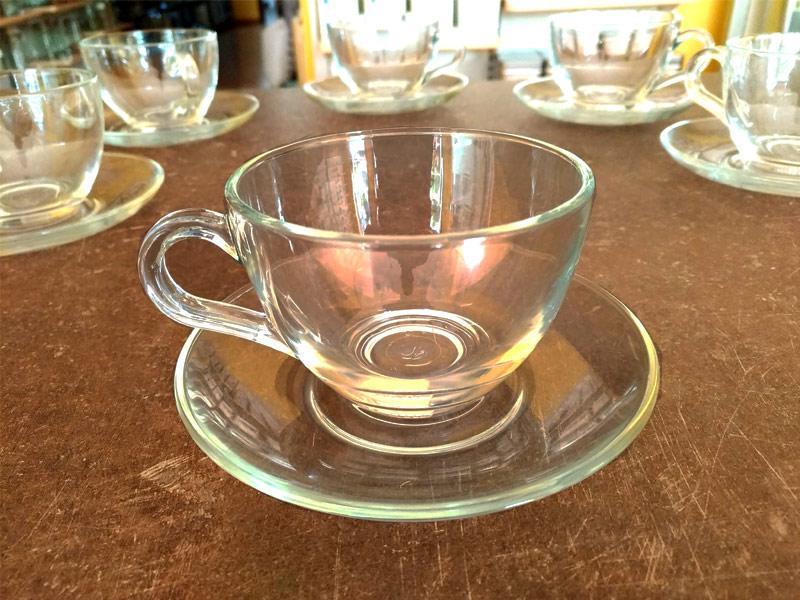 Tazza Tè in vetro con piatto
