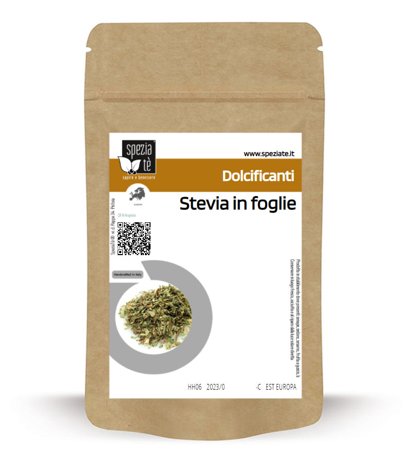 Foglie di stevia essiccate in Busta richiudibile Salva Fragranza