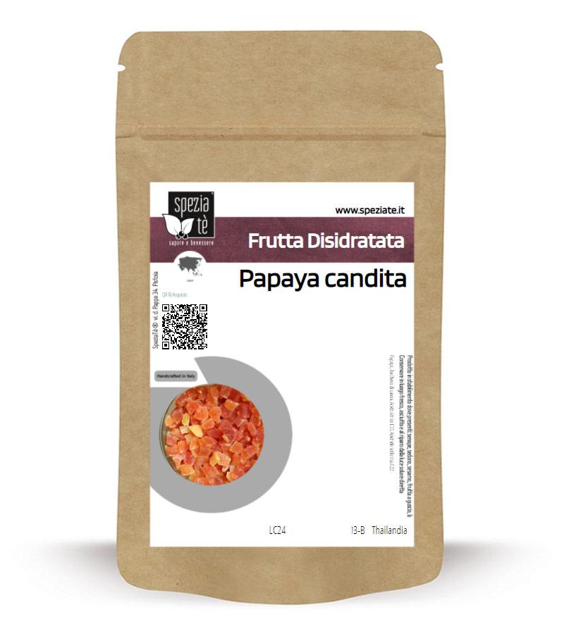 Papaya candita in Busta richiudibile Salva Fragranza