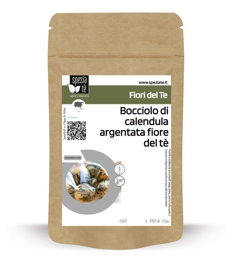 Bocciolo di calendula argentata per rituale del fiore del tè in Busta richiudibile Salva Fragranza
