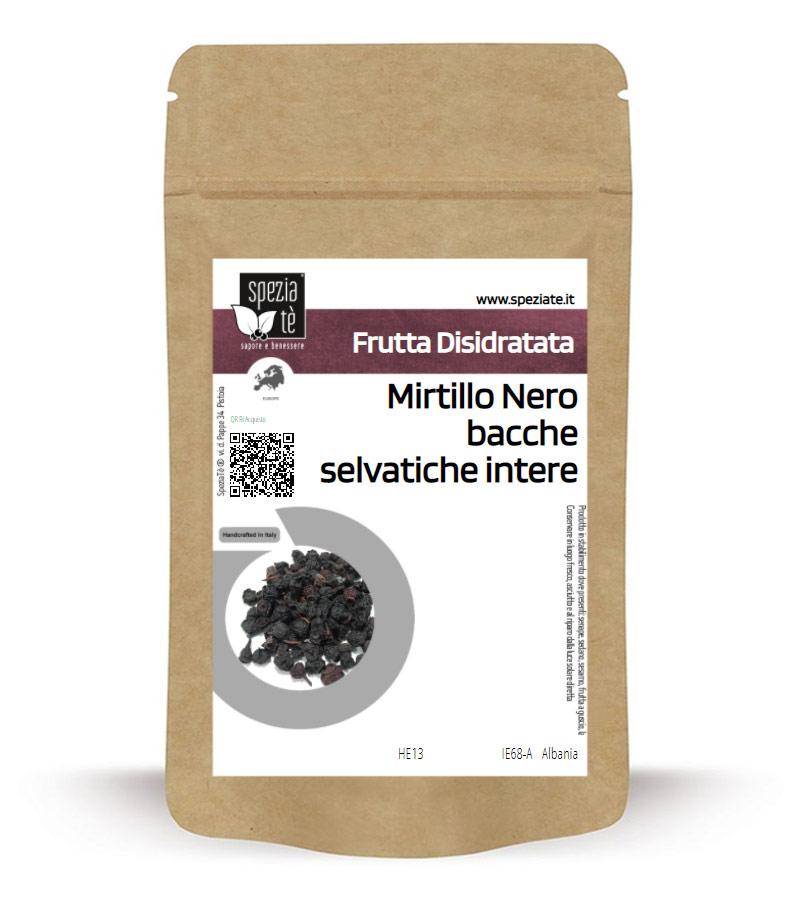 Mirtillo Nero bacche essiccate in Busta richiudibile Salva Fragranza