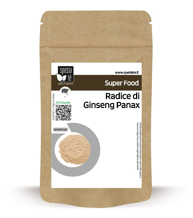 Radice di Ginseng macinata: Panax in Busta richiudibile Salva Fragranza