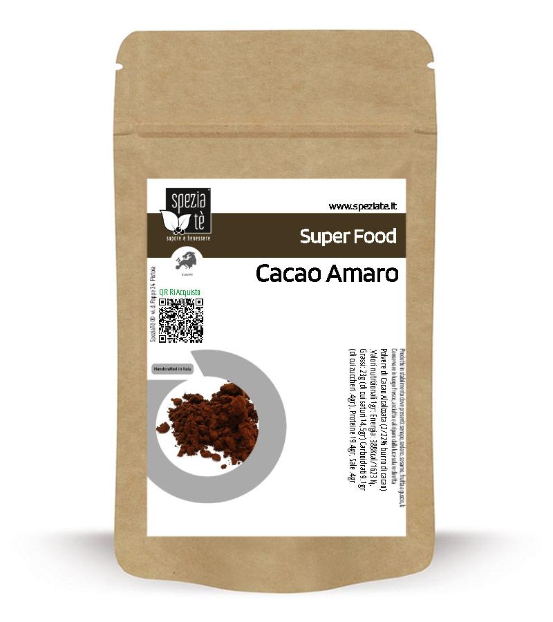 Cacao Amaro in polvere in Busta richiudibile Salva Fragranza