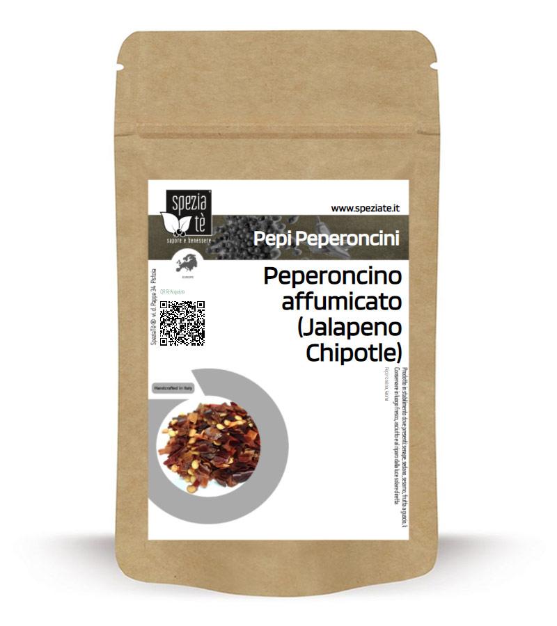 Chili Chipotle rosso Jalapeno Mexico frantumato 1-3 mm in Busta richiudibile Salva Fragranza