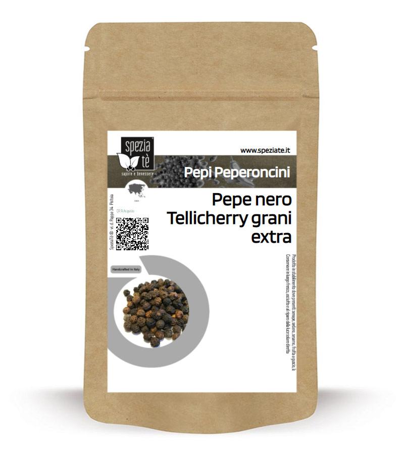 Pepe nero Tellicherry grani extra in Busta richiudibile Salva Fragranza