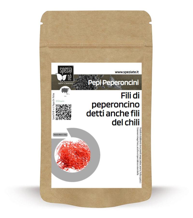 Fili di peperoncino detti anche fili del chili in Busta richiudibile Salva Fragranza