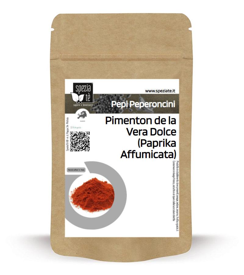 Pimenton de la Vera dolce (Paprica affumicata dolce) in Busta richiudibile Salva Fragranza