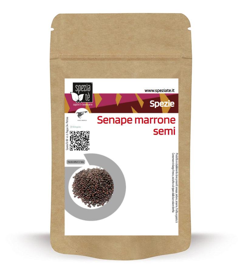 Senape marrone o senape bruna semi in Busta richiudibile Salva Fragranza