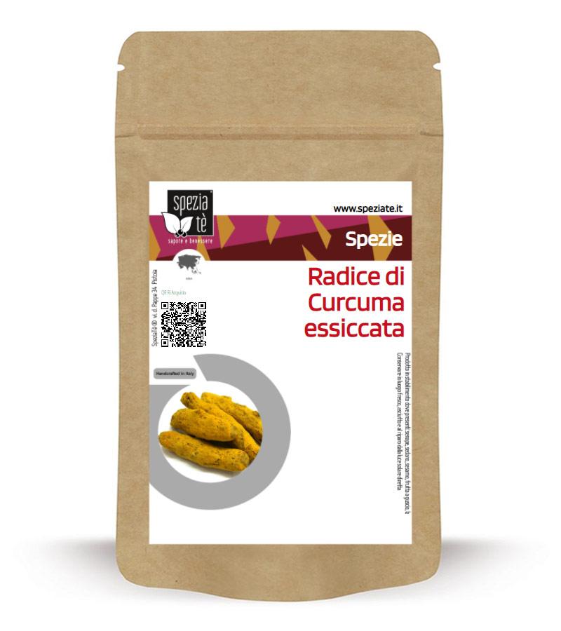 Radice di Curcuma essiccata in Busta richiudibile Salva Fragranza