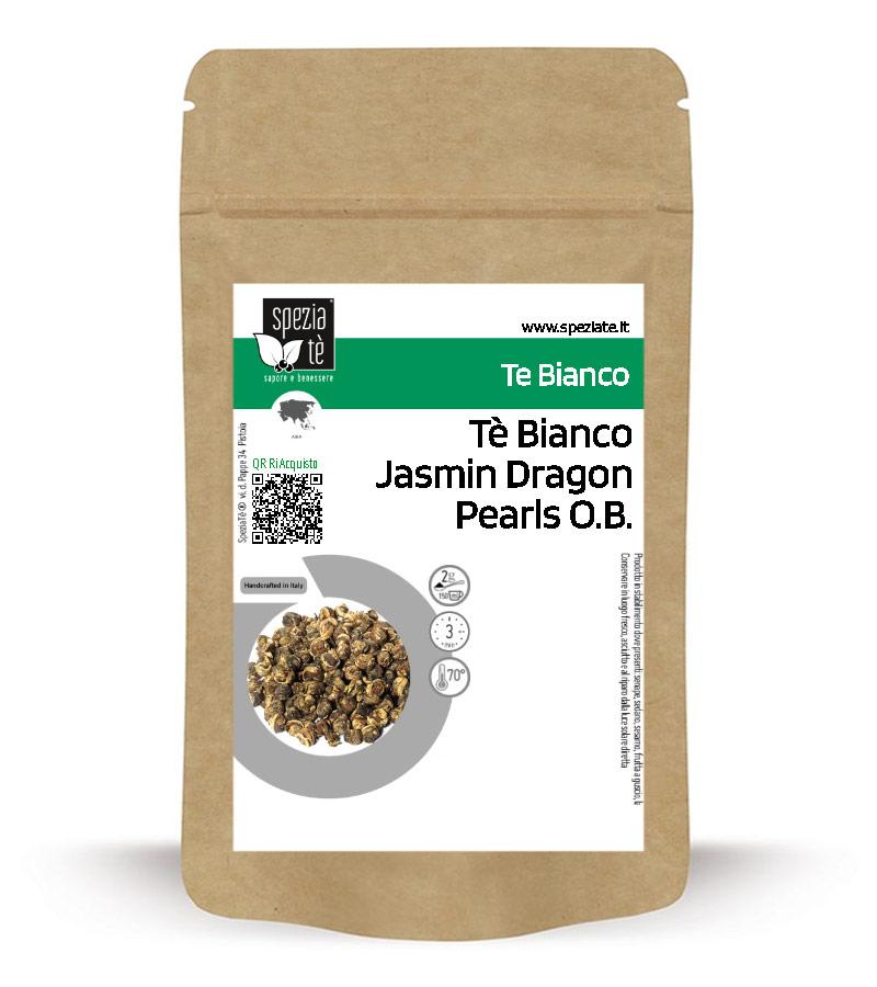 Tè Bianco Jasmin Dragon Pearls ORGANIC in Busta richiudibile Salva Fragranza