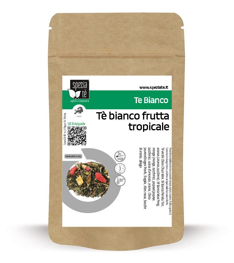 Tè bianco aromatizzato frutta tropicale in Busta richiudibile Salva Fragranza