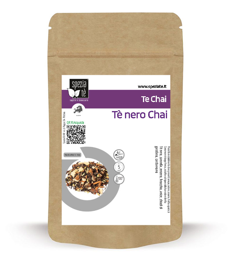 Tè nero Chai in Busta richiudibile Salva Fragranza
