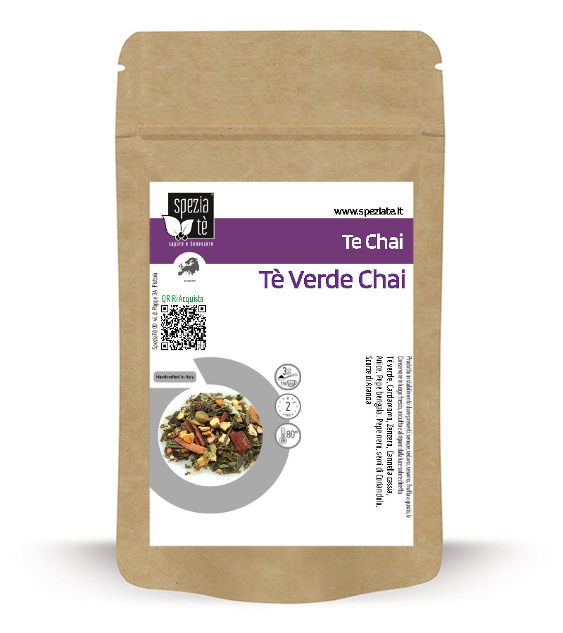 Tè Verde Chai in Busta richiudibile Salva Fragranza