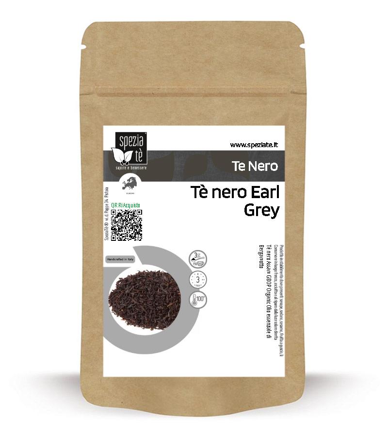 Tè nero Earl Grey BIO in Busta richiudibile Salva Fragranza