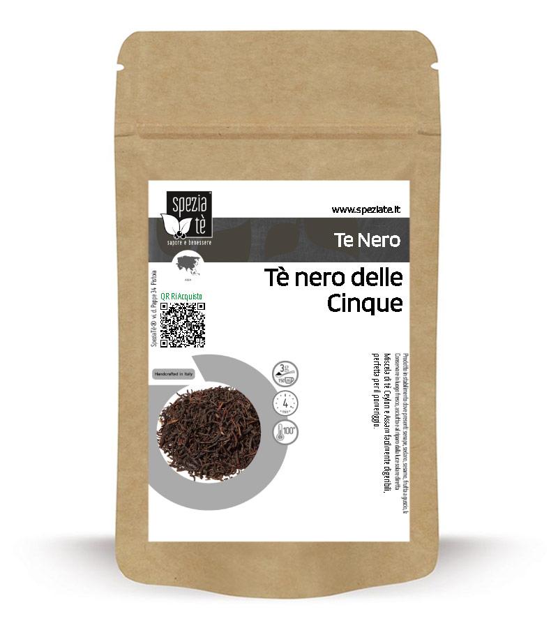 Tè nero Miscela di Ceylon e Assam in Busta richiudibile Salva Fragranza
