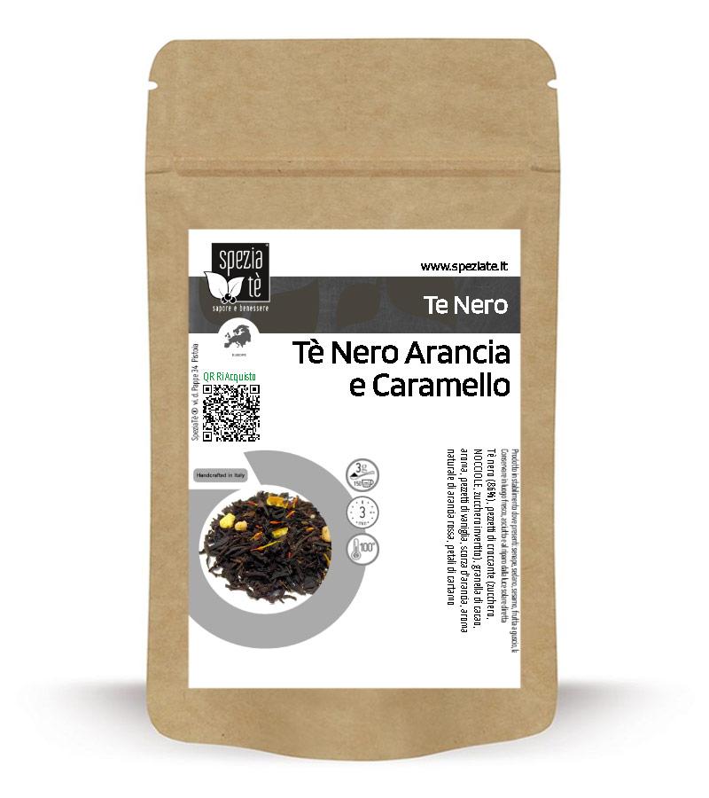 Tè Nero Arancia e Caramello in Busta richiudibile Salva Fragranza
