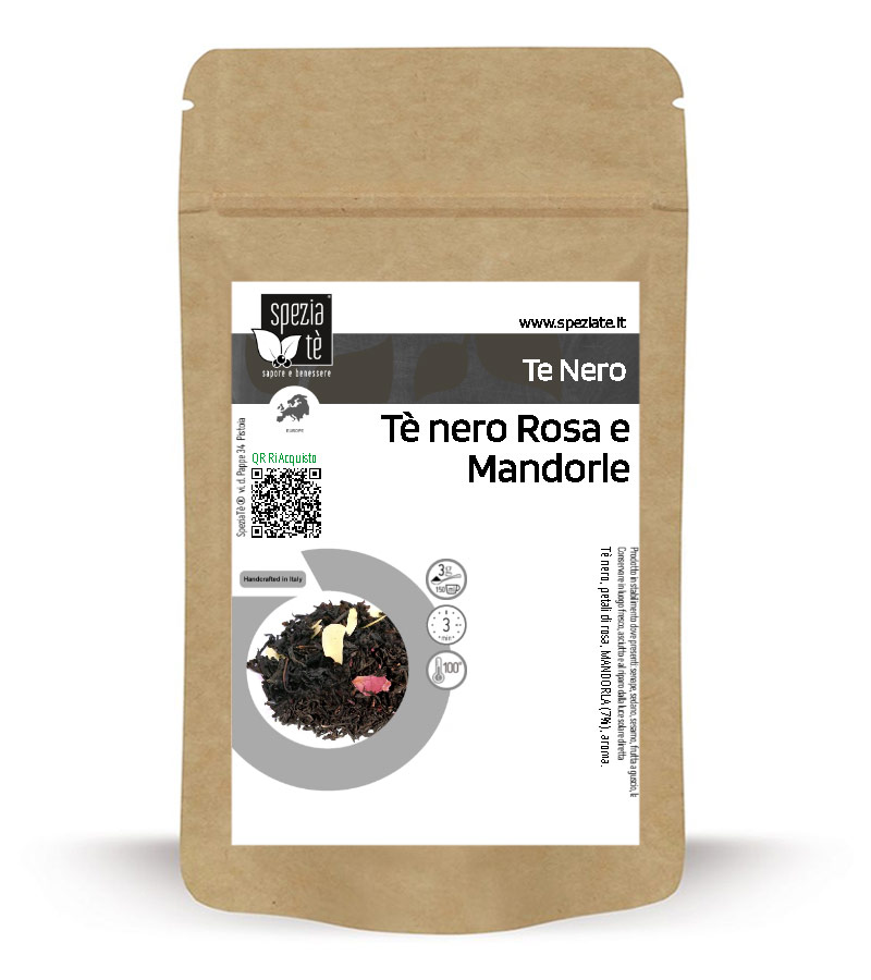 Tè nero Rose e Mandorle in Busta richiudibile Salva Fragranza