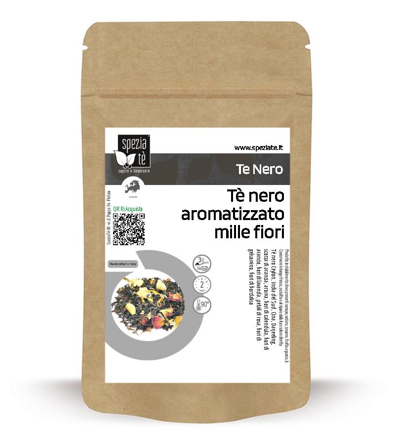 Tè nero aromatizzato mille fiori in Busta richiudibile Salva Fragranza